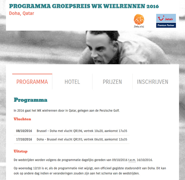 Screenshot Montemar WK Wielrennen