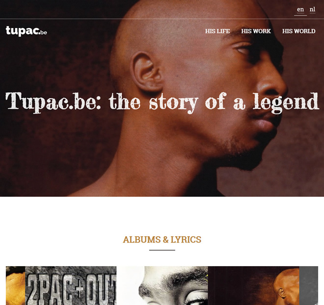 Screenshot Tupac.be